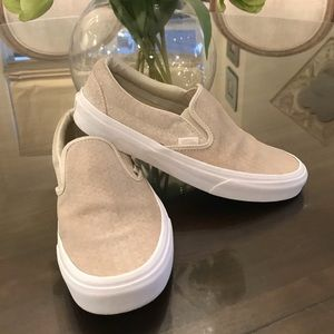 Women's Slip On Vans, Size 9